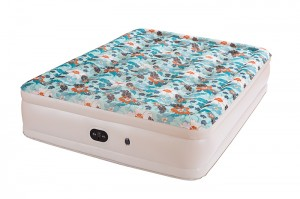 Airbed with Built-in  Electric Pump, Comfort Flocking Top Special Beautiful Print Pattern , bed Height 18″