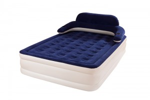 Airbed with External pump, Detachable Backrest, Includes Coke Cup, Inflatable bed Height 32″