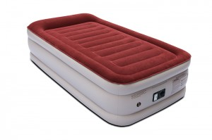 Twin Air Mattress with Built-in Pump & Pillow, Raised Elevated Double High Airbed, 18″
