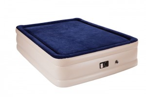 Twin & Queen Memory foam Double -deck Airbed with Built-in Pump bed Height 19""