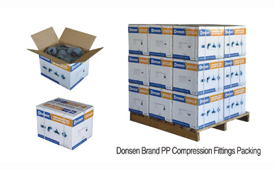 Donsen Brand PP Compression Fitting Packing
