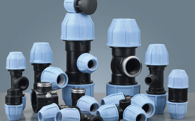 PP Compression Fittings Valve