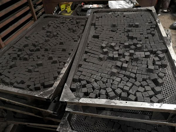 Coconut Charcoal Briquettes making by dryer