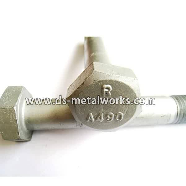 factory low price ASTM A490 A490M Heavy Hex Structural Bolt to Turkey Factories detail pictures