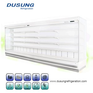 China Gold Supplier for Meat Display Chiller - Commercial Refrigerating Equipment Remote Vertical Double Air Curtain Refrigerator – Dusung