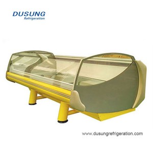 Factory making Vertical Deep Freeze - Commercial refrigeration equipment meat display counter – Dusung
