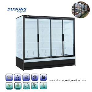 Reliable Supplier Deli Case Chiller - Commercial refrigerator showcase vertical display fridge glass door refrigerator – Dusung