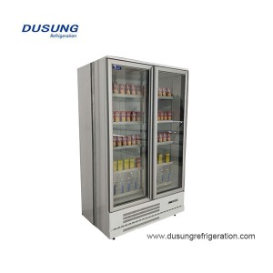 Commercial vertical 2 glass door freezer/refrigerator