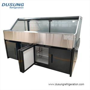 Supermarket meat display deli Storage Refrigerator