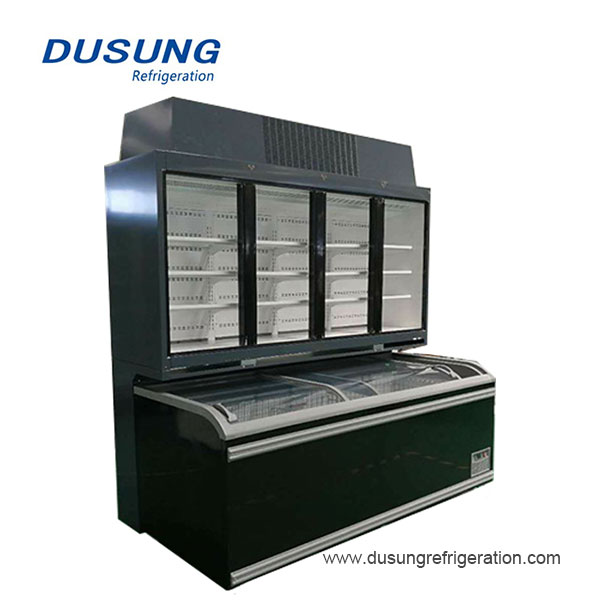 Dusung komérsial dada freezer tipe digabungkeun replaceable chiller freezer