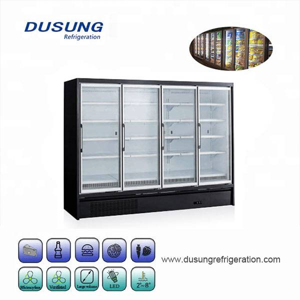 Komersyal na vertical 2 glass door freezer / refrigerator