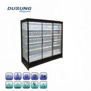 Upright Beverage Showcase Refrigerator Side Glass Door