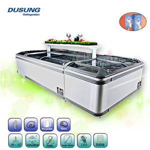 Super Lowest Price Commercial Salad Bar Refrigerator - Island Freezer – DUSUNG REFRIGERATION