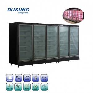 Wholesale ice cream display freezer with glass door