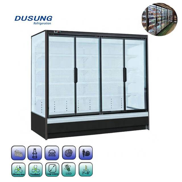 Commercial-Beverage-Upright-Clear-Glass-Door-Refrigerator