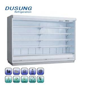 Commercial Supermarket Double Air Curtain Refrigerator