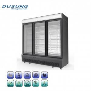 Commercial upright refrigerator 3 door beverage cooler