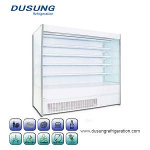 09-Commercial Refrigeration Equipment Double Air Curtain Of Fruits And Vegetables Refrigerated Display Cabinet