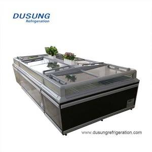 Supermarket refrigeration equipment island freezer