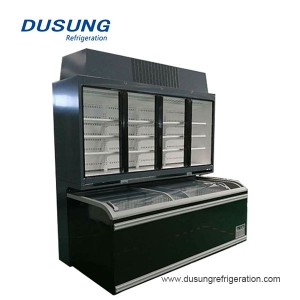 Dusung Commercial kifua freezer replaceable pamoja aina chiller friza