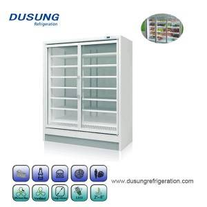 Display supermarket commercial Upright freezer fridge refrigerator
