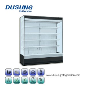 New Style E6 double air curtain commercial supermarket refrigerator display cabinet