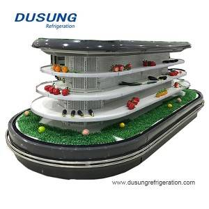 07-Dusung Supermarket Combined annular refrigerator commercial refrigerator for fruits and vegetables