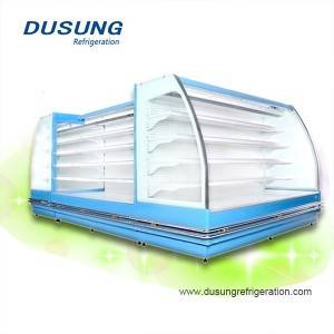 08-Dusung Supermarket convenience stores Semi-high commercial refrigerator open display