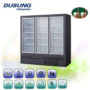 plug in supermarket upright glass door freezer