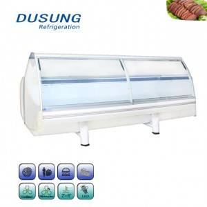 Curved Glass Display Cabinet Cooked Food Refrigerator