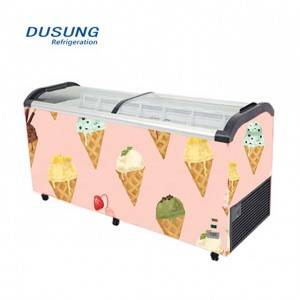 Wholesale Discount Ultra-Low Temperature Refrigerator - Ice cream curved glass double door chest freezer – DUSUNG REFRIGERATION