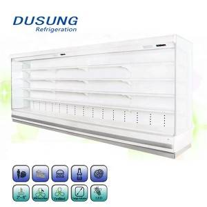 Supermarket Display Chiller Open Air Curtain Refrigerator