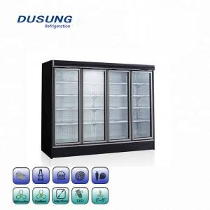 Supermarket Refrigerator Upright Glass Door