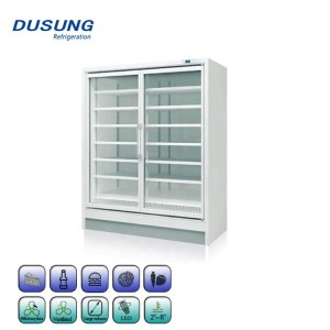 Supermarket 2 Glass Door Commercial Refrigerator