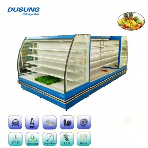 Semi Vertical Supermarket Display Refrigerator