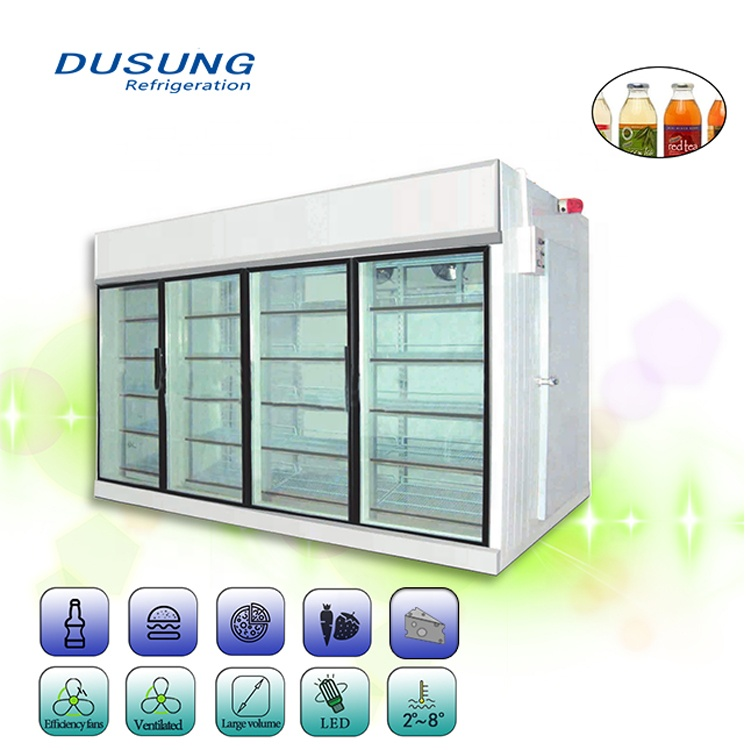 Supermarket-Storage-Glass-Door-Cold-Room-For