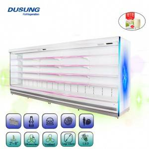 Good quality Mini Glass Door Fridge Freezer - Dual-jet Air Curtain Multidecks-Remote – DUSUNG REFRIGERATION