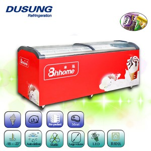 China New Product Counter Top Display Beer Can Fridge - Glass top chest freezer – DUSUNG REFRIGERATION