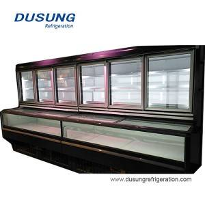 Dusung Commercial combined type chiller freezer