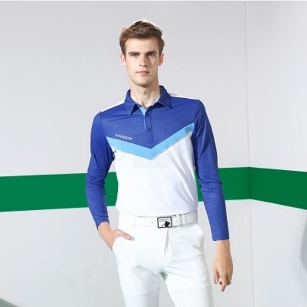 Fashion high quality wholesale long sleeves men golf polo t-shirt