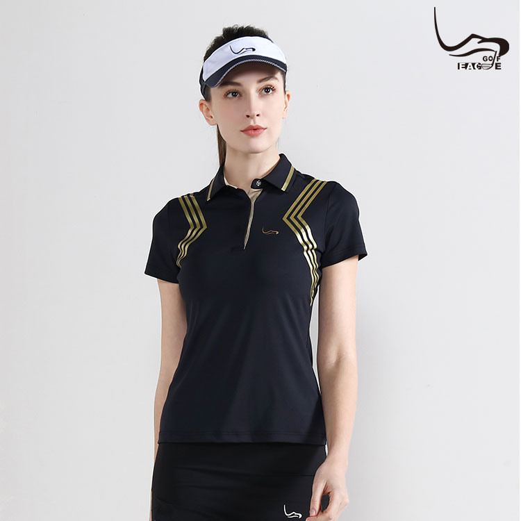 Wholesale custom new design quick dry dri fit golf shirt for women Featured Image