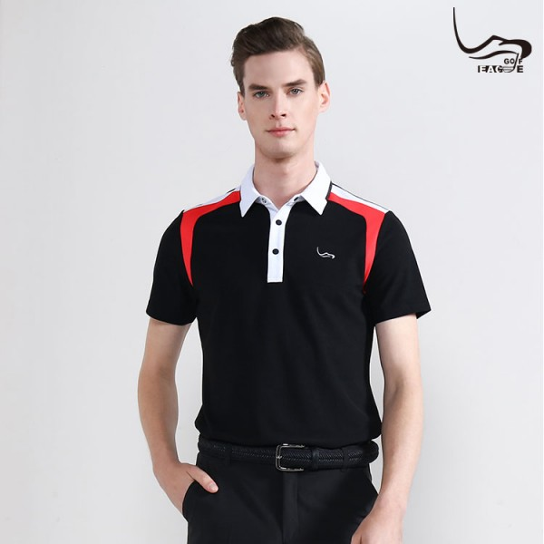 100 fade deyil Wholesale% polyester men qara polo köynək