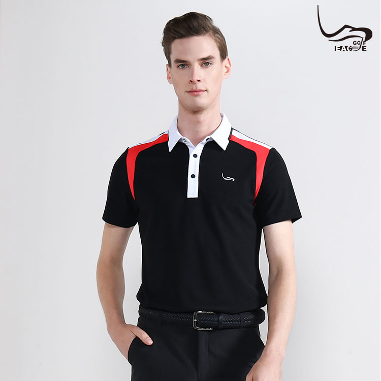 Wholesale not fade 100% polyester men black polo shirts Featured Image