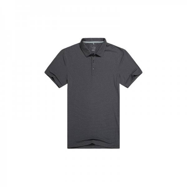 Dark Grey Stripe Men's Polo T Shirt