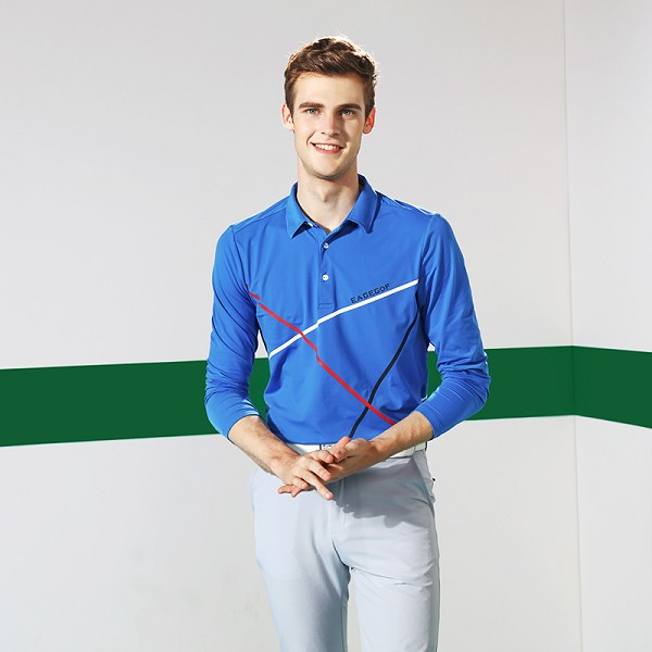 New style fashion long sleeve tennis wear wholesale polo t shirts