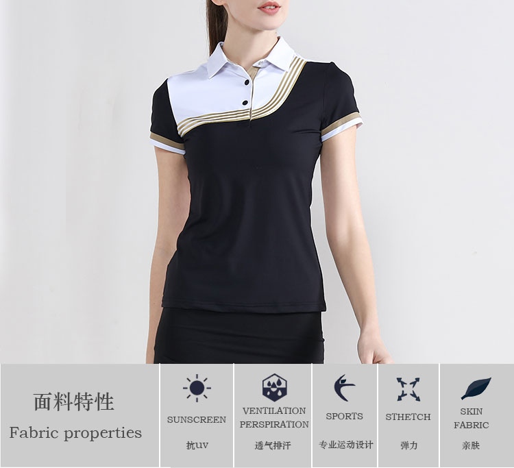China Custom High Quality Fashion New Design Women Golf Polo Shirt Manufacturers And Suppliers Hongxinqi