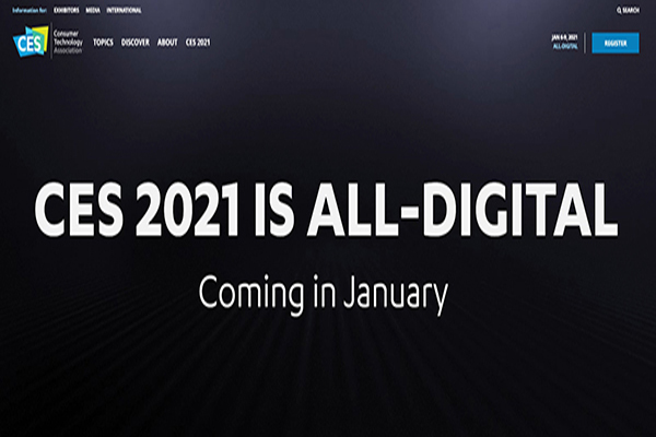 CES 2021 Cancels All Physical Activities and Goes Online