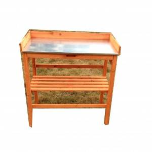 Work Bench Tabletop Cabinet Drawer Open Shelf Wood Outdoor Garden Potting Bench plant Table
