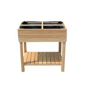 New Cheap Elegant Design Outdoor Wooden Garden Plant table shelf  EYG011