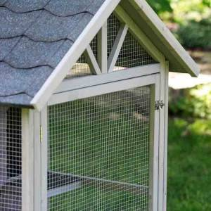 Hot Sale Asphalt Roof Custom Wooden Rabbit Hutch EYR028
